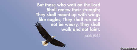 Isaiah 40:31 NKJV - But Those Who Wait On The Lord Shall Renew Their  Strength - Facebook Cover Photo - My Bible