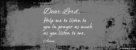 Help Me To Listen To You In Prayer