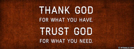 Thank God Trust God Facebook Cover Photo My Bible