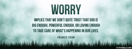 Worry Implies That We Don't Quite Trust