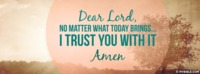 I Trust You With It