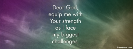 Equip Me With Your Strength