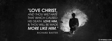 Love Christ And Though Wilt Hate That Which Caused His Death