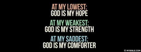God Is My Hope, Strength, Comforter