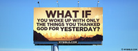 What if you woke up with only the things you...