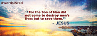 """""""For the Son of Man did not come to destroy..."""