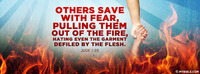 """Others save with fear, pulling them out of the..."