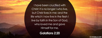 I have been crucified with Christ; it is no...
