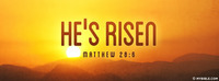 """""""He is not here; for He is risen, as He said...."""