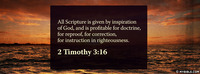 All Scripture is given by inspiration of God,...