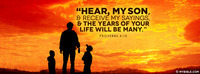 Hear, my son, and receive my sayings, and the...