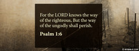 For The LORD Knows The Way Of The Righteous