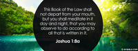 This Book Of The Law Shall Not Depart From Your Mouth