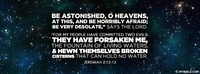 Be Astonished, O Heaven.