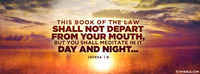 Book Of The Law Shall Not Depart From Your Mouth