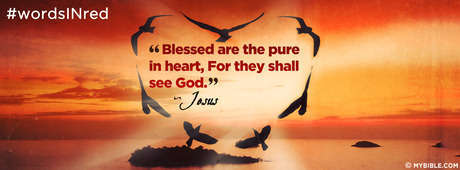 Matthew 5:8 NKJV - Blessed Are The Pure In Heart. - Facebook Cover ...