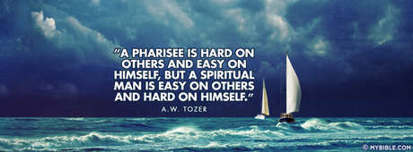 A Pharisee Is Hard On Others.