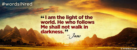 John 812 Nkjv I Am The Light Of The World Facebook Cover Photo