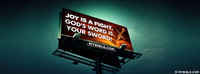 Joy Is A Fight. God's Word Is Your Sword!