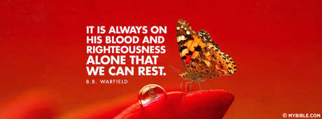 His Blood And Righteousness Alone That We Can Rest