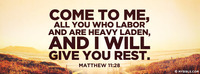 All You Who Labor And Are Heavy Laden