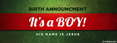 Birth Announcement Its a Boy His name is Jesus Facebook – Jesus Birth Announcement