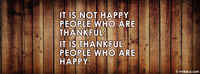 It Is Thankful People Who Are Happy