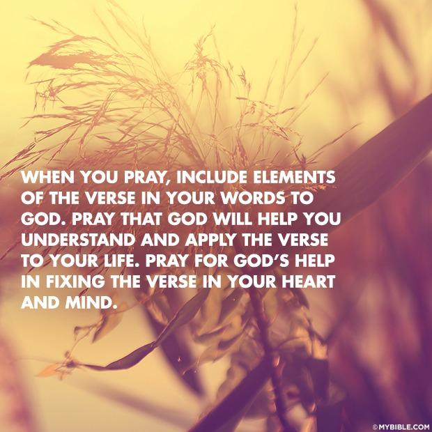 **#5** _Incorporate the verse into your prayers._